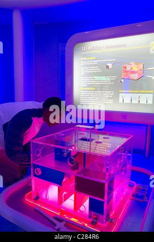 Endoscope display at the Gulf Coast Exploreum Science Center in Mobile, Alabama, USA. - Stock Photo