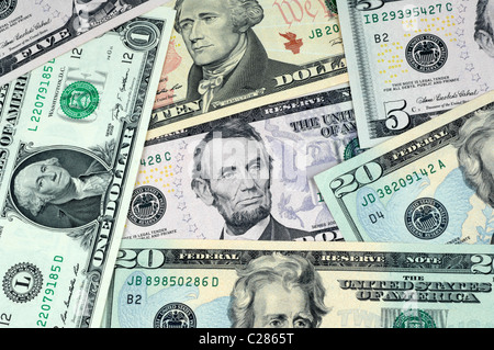 Dollar, dollars, money, American banknotes - Stock Photo