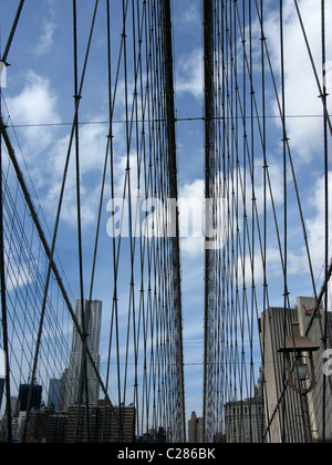 Brooklyn Bridge, New York City, USA - Stock Photo