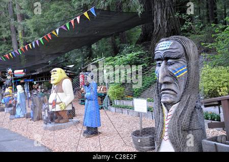 Redwoods National Park, California, USA - Gift shop - Stock Photo
