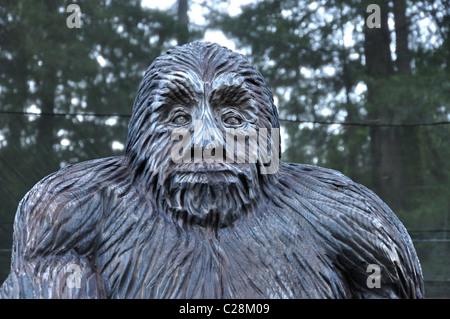 Redwoods National Park, California, USA - Bigfoot statue - Stock Photo