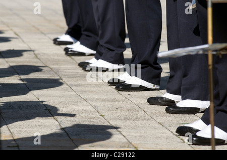 spats spat footwear foot wear shoes ceremonial dress shoe shoes feet foot - Stock Photo