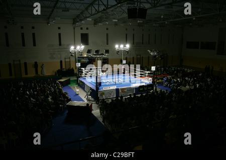 Empty boxing ring. - Stock Photo