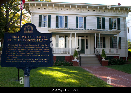 The First White House of the Confederacy was the residence of President Jefferson Davis in Montgomery, Alabama, USA.