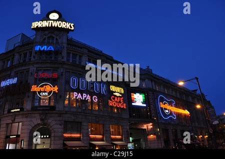 Manchester Printworks at Night - Stock Photo