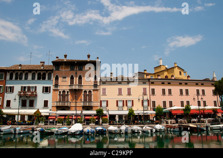 Desenzano del Garda is a town and comune in the province of Brescia, in Lombardy, Italy, which borders Lake Garda. - Stock Photo