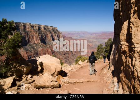 South Kaibab Trail, Grand Canyon National Park, Arizona, USA. - Stock Photo