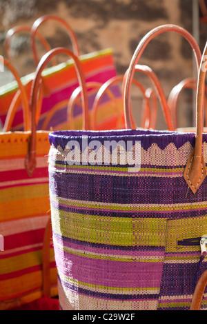 France, Languedoc-Roussillon, Uzes, basket shop Stock Photo ...