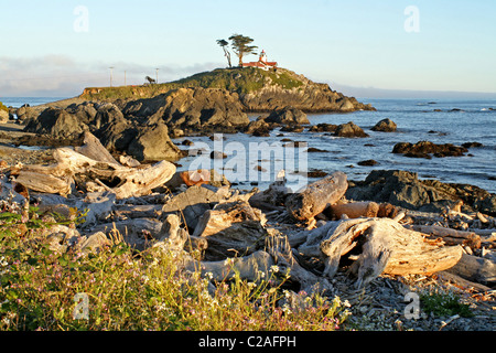 Battery point Lighthouse Crescent City California - Stock Photo