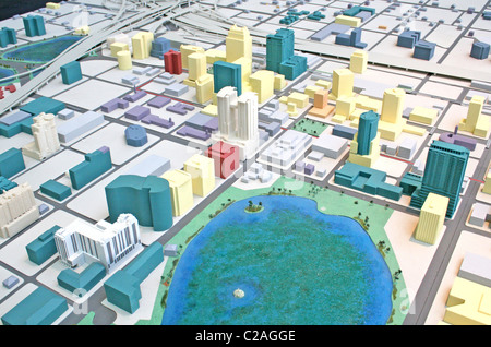 City scale model at Visitors Center, downtown Orlando Florida - Stock Photo