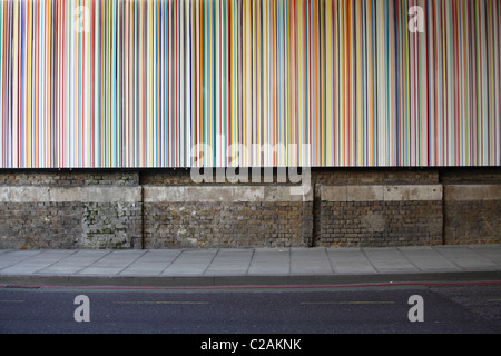 'Poured Lines on Southwark Street, London by Ian Davenport' - Stock Photo