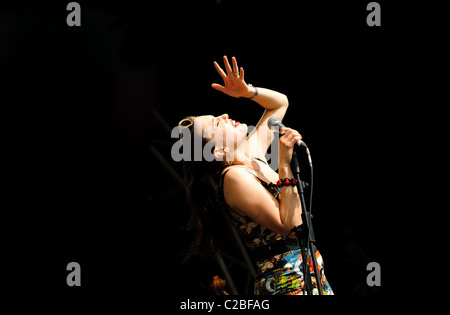 Imelda May Performing Live at Hop Farm, 2010 - Stock Photo