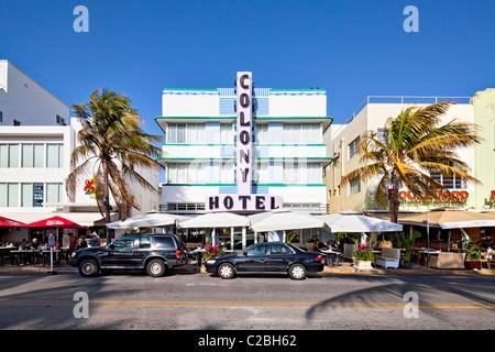 Colony Hotel, South Beach, Miami - Stock Photo