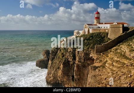 Cape St Vincent Algarve Portugal - Stock Photo