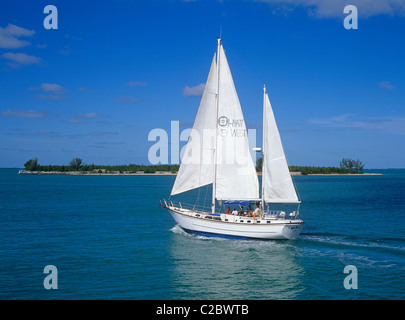 The seas off Key West and the islands of the region are popular with sailers of small and large yachts. - Stock Photo