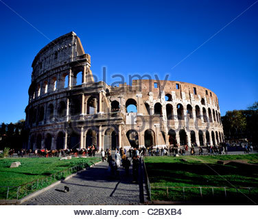 The Colosseum in Rome. - Stock Photo