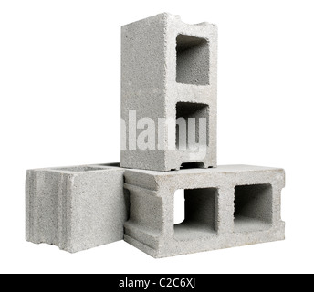 cinder blocks - Stock Photo