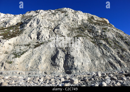 view of the 7 Sisters White Chalk Cliffs Beachy Head Sussex Coast English Channel - Stock Photo