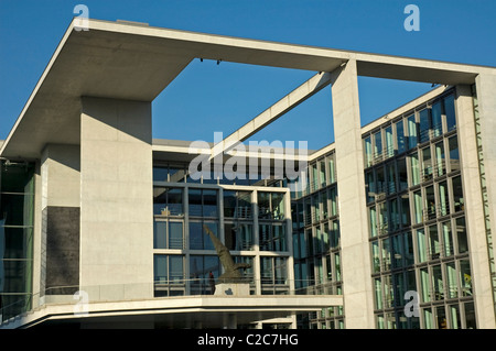 Marie Elisabeth Lueders House on river Spree bank, Germany, Berlin - Stock Photo