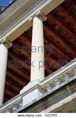 Detail of a column in an abbey. El Escorial. Spain - Stock Photo