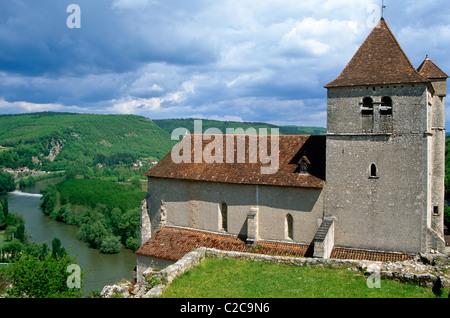 Saint Circ Lapopie Dordogne France - Stock Photo