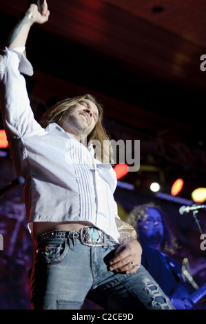 April 08, 2011, Sacramento, CA - Bo Bice performs on stage at Thunder Valley Casino in Rocklin, CA - Stock Photo