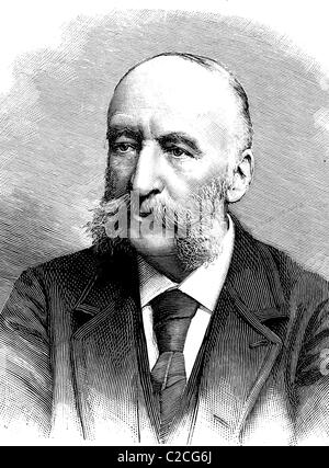 Jules Verne, 1828 - 1905, French writer, historical picture, about 1893 - Stock Photo