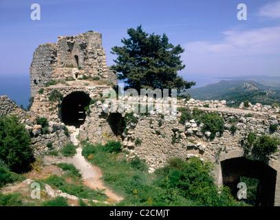 Kantara Castle North Cyprus - Stock Photo