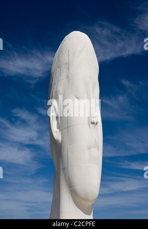 The Dream sculpture sighted on former coal mine in St Helens, UK. - Stock Photo