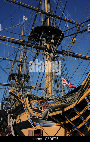 Detail of the Man-Of-War HMS Victory. - Stock Photo