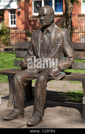 Alan Turing Memorial Statue, Sackville Park,Manchester. The sculpture by Glyn Hughes was unveiled on June 23rd 2011. - Stock Photo
