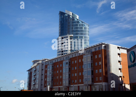 Modern architecture buildings Portsmouth Hampshire England - Stock Photo