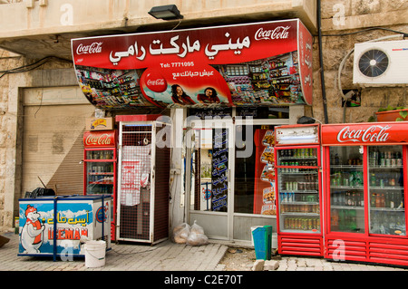 Maalula coca cola fast food Syria town Syrian Bar - Stock Photo