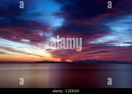 Sunset Zakynthos Greece - Stock Photo