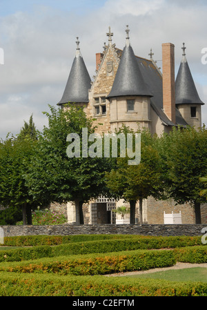 France, Pays de la Loire: Chatelet of Château d'Angers, a fortified castle in Angers in the UNESCo world heritage - Stock Photo