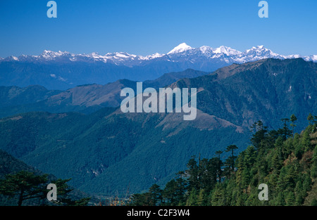 Jhomolhari Peak Himalayas Bhutan - Stock Photo