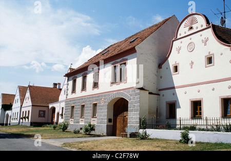 Holasovice South Bohemia Czech Republic - Stock Photo
