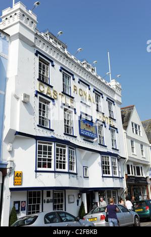 The Royal Castle Hotel Dartmouth Devon Uk - Stock Photo