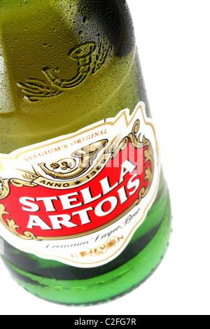 Stella Artois beer Belgium lager - Stock Photo