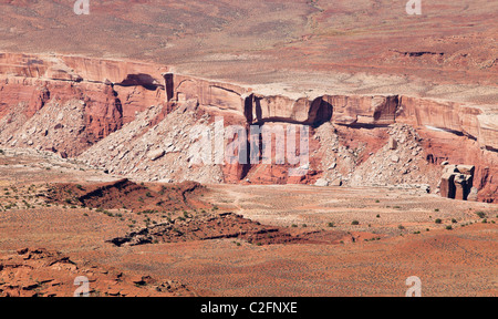 Looking down on a portion of the Green River canyon from Isalnd in the Sky district of Canyonlands national Park, - Stock Photo