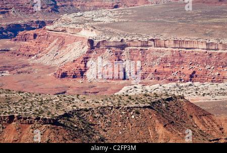 Canyons and mesa tops in Canyonlands National Park, Utah, USA. - Stock Photo