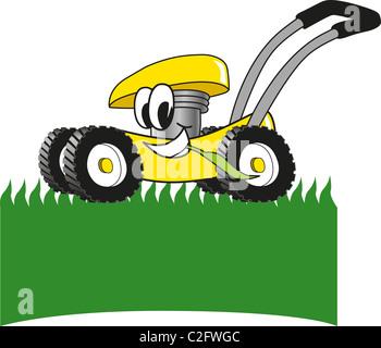 Cartoon Lawn Mower Clip Art