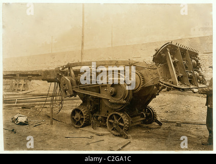 Machine used in Gary W. Va. mine that digs the coal and loads it on the car. - Stock Photo