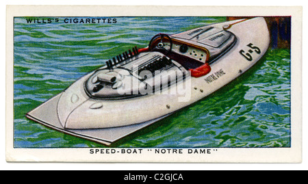 American speed-boat 'Notre Dame', winner of the International Gold Cup, Detroit, Michigan, USA in 1937 driven by - Stock Photo