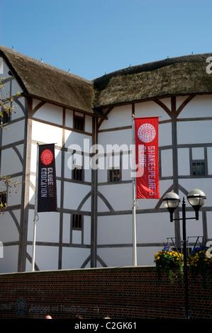 Shakespeare's Globe Theatre, Bankside, London, England UK - Stock Photo