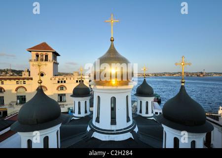 Havana. Cuba. Habana Vieja / Old Havana. Our Lady of Kazan Russian Orthodox Church. - Stock Photo