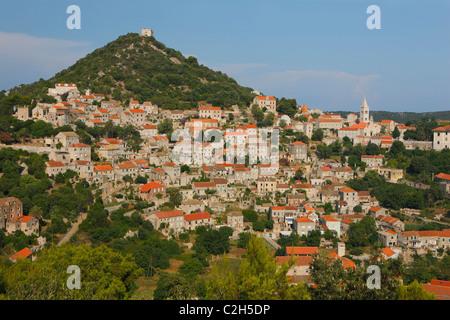 Lastovo town on Island Lastovo, Croatia - Stock Photo