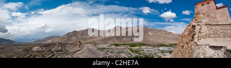 Panorama of Gyantse for the Fort - Stock Photo