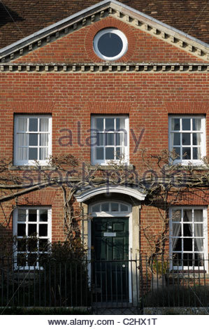 Straight on image of 55 The Close in Salisbury, Wiltshire England - Stock Photo