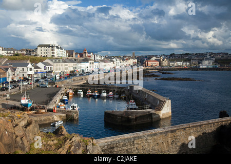 Portstewart harbour and promenade, Co Derry, Northern Ireland. - Stock Photo
